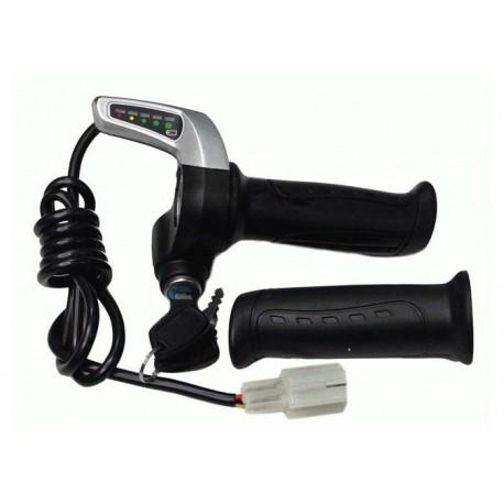 Ручка газа со светодиодным индикатором заряда 48V и замком зажигания