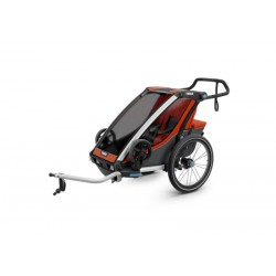 Детская коляска Thule Chariot Cross 1 (Roarange-Dark Shadow)